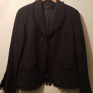Anne Klein Dress Plum Jacket